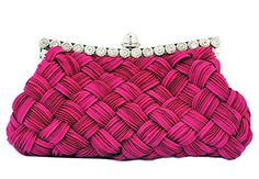 New Trending Clutch Bags: Chicastic Pleated and Braided Rhinestone studded Wedding Evening Bridal Bridesmaid Clutch Purse - Fuchsia Pink. Chicastic Pleated and Braided Rhinestone studded Wedding Evening Bridal Bridesmaid Clutch Purse – Fuchsia Pink  Special Offer: $9.99  188 Reviews Elegant pleated and braided satin along with rhinestone decoration make a very beautiful wedding clutch pursePleated  Braided...