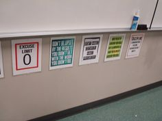 secondary math classroom. High school math classroom decor. (Other great ideas in the blog too!!)