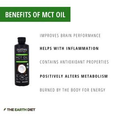 Here are some health benefits of Nutiva MCT oil. Mct Oil Benefits, Health Benefits, Health Tips, For Your Health, Metabolism, Helpful Hints, Positivity, Diet, Useful Tips