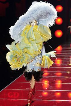 Christian Dior Spring 2003 Couture Fashion Show - Raquel Zimmermann, John Galliano
