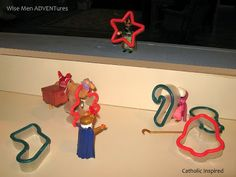 Ha! This looks like a way better version of Elf on the Shelf -- Wise Men ADVENTures. (Wise men do all kinds of fun things as they trek towards the Nativity). All the fun of Elf on the Shelf without Santa or having to buy that creepy elf. I think I could get behind this (though I can't be sure I'll ever be diligent enough to pull it off...)