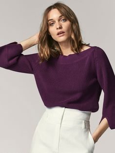 Spring summer 2017 Women´s EMBELLISHED SWEATER WITH FLARED DETAIL at Massimo Dutti for 54.95. Effortless elegance!
