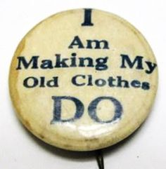A WWI pin at Barbara Brackman's MATERIAL CULTURE: Random Thoughts on Patchwork Clothing