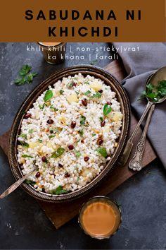 Lunch Recipes, Great Recipes, Vegetarian Recipes, Dinner Recipes, Favorite Recipes, Healthy Recipes, Sabudana Khichdi, Fusion Food, Recipe Boards