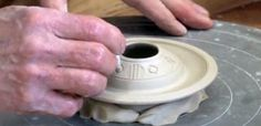 Tom Turner video: How to Add Beauty while Enhancing Function on a Lid Excellent discussion on thinking about the end result (glazing, form, function) at all stages of production. Be thoughtful and aware. Ceramic Techniques, Pottery Techniques, Pottery Teapots, Ceramic Pottery, Friday Video, Ceramic Arts Daily, Pottery Videos, Clay Studio, Pot Lids