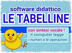 TABELLINE Software per Windows basato su esercizi a scelta multipla sulle tabelline e sulle moltiplicazioni con supporto della sintesi vocale, ideale per D