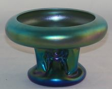Steuben Carder Period Blue Aurene Pillar Vase – Atomic Cloud, Shop Rubylane.com