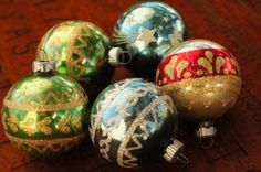 Vintage 50s-60s Mercury Glass Christmas by SycamoreVintage on Etsy