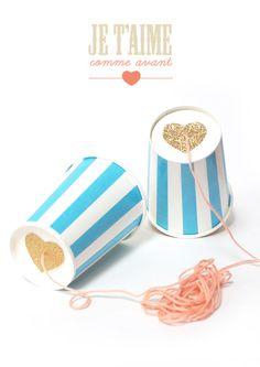 DIY gobelet téléphone, glitter & gold Good prop for valentine photoshoot Diy For Kids, Cool Kids, Crafts For Kids, Fun Crafts, Diy And Crafts, Cup Phones, Do It Yourself Inspiration, Ideias Diy, Blog Deco