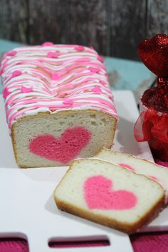 Vanilla Strawberry Loaf Heart Cake Recipe: Perfect For Valentine's Day. The sweetest dessert for your sweethearts!