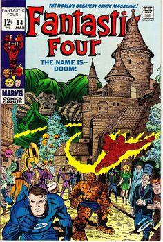 Vintage Comic - Fantastic Four Pencils: Jack Kirby Inks: Joe Sinnott Colors: Stan Goldberg Marvel Jack Kirby, Stan Lee, Marvel Comic Books, Comic Book Heroes, Comic Books Art, Marvel Heroes, Silver Age Comics, Comic Book Artists, Comic Artist
