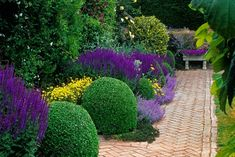 Inspire a lazy sense of adventure with a welcoming garden path. Marian McEvoy trots out five options—from herringbone brick to mown grass.