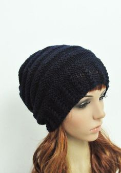 "This wool hat features on an interesting new shape and cable kit band that is about 2.5 w. It is a great gift for Her/ Him!    Color: Black  Length:10"" from top to bottom  Circumference: 17"" (relaxed) 25"" (stretched) – fit any size head!    Hand wash in cold water with detergent or shampoo and flat"