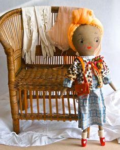 Special Edition Molly Dolly rag doll retro 1940s Gloria by Jess Quinn