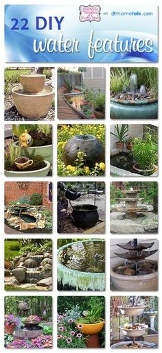 Scattered Thoughts of a Crafty Mom: Water Feature Inspiration and Hometalk Are these just not too cute?!
