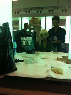 Urban Tribe #backstage at Emporio @ARMANI Official SS 2012 Fashion Show. #MFW #fashion