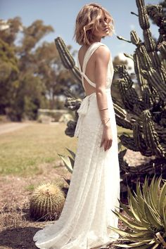 Simple Wedding Dress. The Lace Multiway in Ivory by Goddess By Nature www.shop.goddessbynature.com