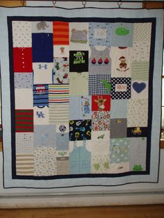 CUSTOM ORDERS for quilts made from baby clothes by BarbMalmTshirtQuilts on Etsy