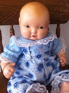"""MINT 16"""" Effanbee Lambkins Composition Baby Doll"""