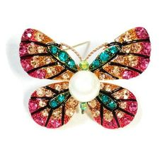 BROOCH PINK BUTTERFLY
