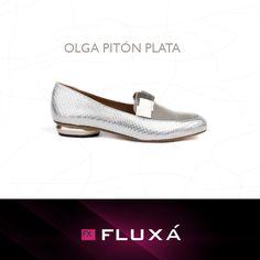 OLGA PITÓN PLATA #FLUXÁ. #shoes #moda #fashion #tendencias #calzado