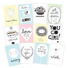 A Little Lovely Company / Pohlednice Sentiments - set 12 ks