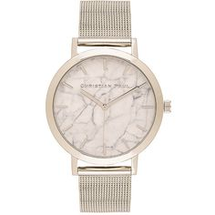 Christian Paul Hayman Marble 43mm ($155) ❤ liked on Polyvore featuring jewelry, watches, chain link jewelry, marble jewelry, water resistant watches and chain link watches