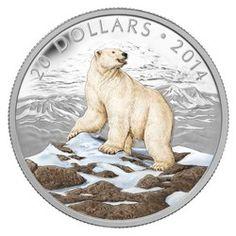 Royal Canadian Mint $20 2014 Fine Silver Coin - Iconic Polar Bear $99.95 #coin…
