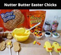 Nutter Butter Chicks for Easter Party Easter Snacks, Easter Party, Easter Treats, Easter Recipes, Easter Food, Easter Desserts, Easter Stuff, Easter Cookies, Easter Decor
