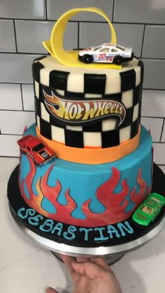 Bithday Cake, Superman Birthday, Superhero Birthday Cake, 4th Birthday Cakes, Hotwheels Birthday Cake, Bolo Hot Wheels, Hot Wheels Cake, Hot Wheels Party, Power Rangers Birthday Cake