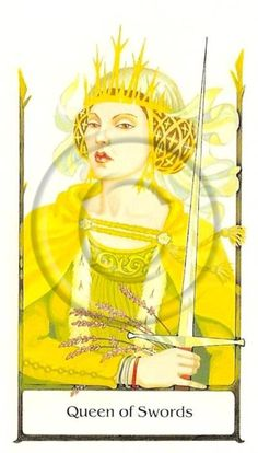 Tarot of the Old Path~Queen of Swords