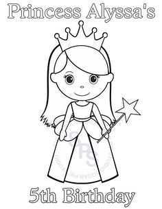 Personalized Printable Princess Birthday Party by SugarPieStudio - love this :)