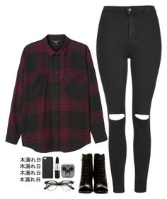 """Lauren Jauregui Inspired"" by itscindyrella ❤ liked on Polyvore featuring Yves Saint Laurent, Monki, Topshop, MAC Cosmetics and GiGi New York"