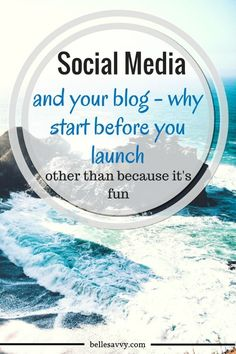 Dive into social media as you build your blog (before you launch!) | BelleSavvy Choose Your Own Adventure Blog tutorial