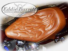 motorcycle seat distressed tan eddie barrett seats specialty vehicles