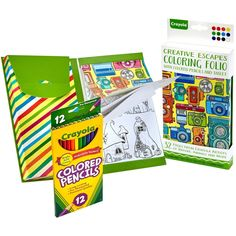 Crayola Coloring Folio W/Colored Pencils & Tablet-Travel Set - travel set