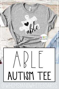 Always see the ABLE never the label Teacher Tee. This message is perfect for teachers moms or anyone who wants to support those they love with Autism. White and black ink screen printed on Bella Canvas Super soft and comfortable! Teacher Outfits, Teacher Shirts, Teacher Clothes, Teacher Fashion, Teacher Wear, Teacher Wardrobe, Love Shirt, Diy Shirt, Autism Shirts