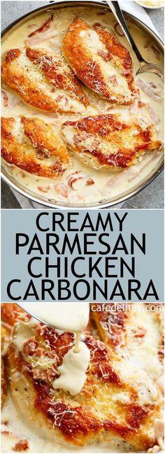 Creamy Parmesan Chicken Carbonara