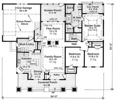 First Floor Plan of Cottage   Craftsman   House Plan 42618