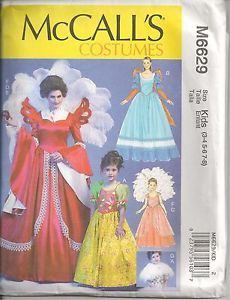 items similar to mccalls pattern 6629 misses and girls costume fairy tale queen and princess size s xl on etsy - Childrens Halloween Costume Patterns