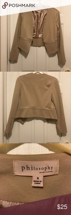 Tan Blazer Never worn, except to take that picture. Excellent condition, size small Jackets & Coats Blazers