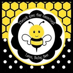 Bumble Bee Favor Tags or Cupcake Toppers by ThatPartyChick on Etsy, $8.00