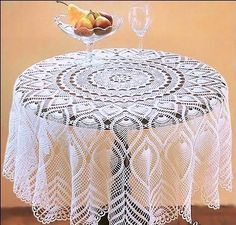 Crochet doily - crochet doilies - Crochet tablecloth - Home decor - White crochet doilies - Handmade tablecloth by DoiliesbyElena on Etsy Crochet Doily Patterns, Thread Crochet, Filet Crochet, Baby Knitting Patterns, Crochet Doilies, Crochet Table Topper, Crochet Tablecloth Pattern, Crochet Bedspread, Mantel Redondo