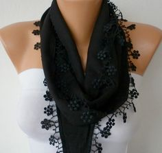 Black Scarf- by fatwoman, $13.50