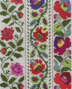 Russian Embroidery, Folk Embroidery, Embroidery Patterns Free, Cross Stitch Embroidery, Embroidery Designs, Cross Stitch Rose, Cross Stitch Borders, Cross Stitch Flowers, Cross Stitching