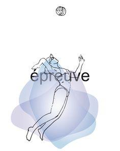 Volleyball de plage (femme) - Illustration numérique à télécharger - 8 x 10 de la boutique IsabelleDionne1 sur Etsy