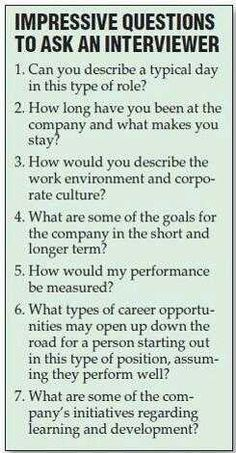 Resume Tips : Great Questions to ask the interviewer during a job interview. Still feeling a little rusty on the whole job searching process? No problem. GO Charleston Deals has a great deal on Interview Coaching just for you! Job Interview Tips, Job Interview Questions, Job Interviews, Interview Coaching, Interview Techniques, Preparing For An Interview, Job Interview Makeup, Job Interview Preparation, Situational Interview Questions