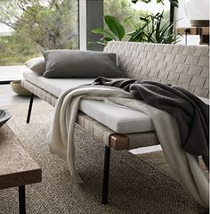 IKEA SINNERLIG Day Bed (make this- tightly weave fabric onto wooden frame)