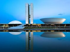 Night photography of Brasilia by architectural and fine art photographer Andrew Prokos featured in Jornal O Globo, Brazil's top newspaper - andrewprokos.com