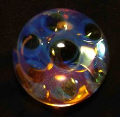 kc boro glass marble triple layer moon surface fumes 1 1/8""